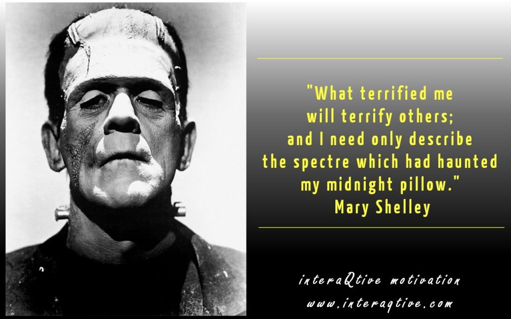 Mary Shelley about her writing - #FridayInspiration