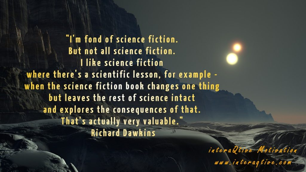 To unite Science and Fiction - and make it interesting - #FridayMotivation