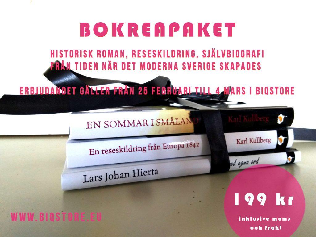 Bokreapaket från tiden när det moderna Sverige skapades