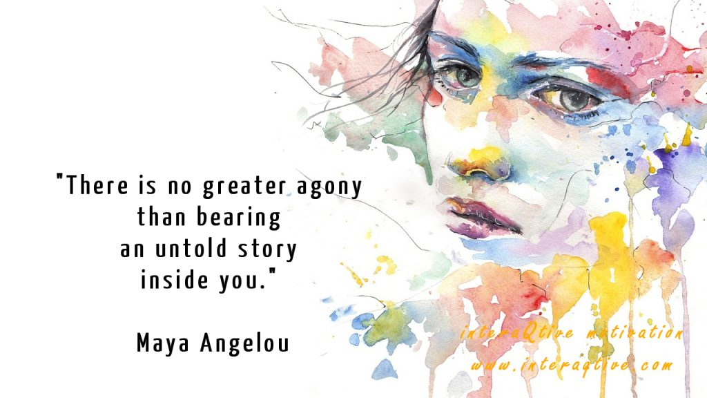 To tell the untold story to free your mind - #FridayMotivation